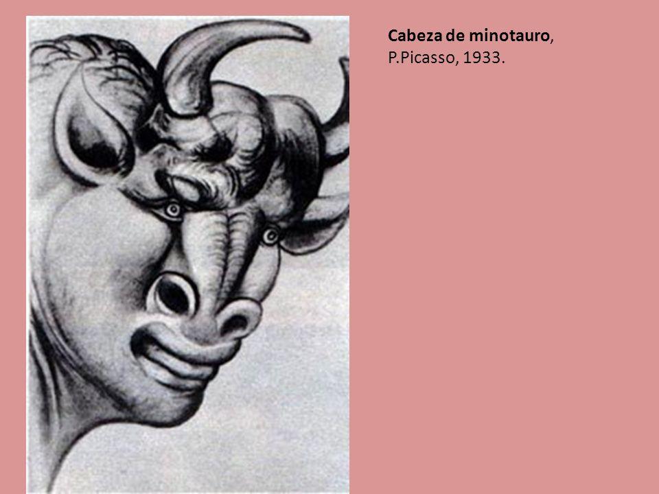 15 Cabeza de minotauro, P.Picasso, 1933.