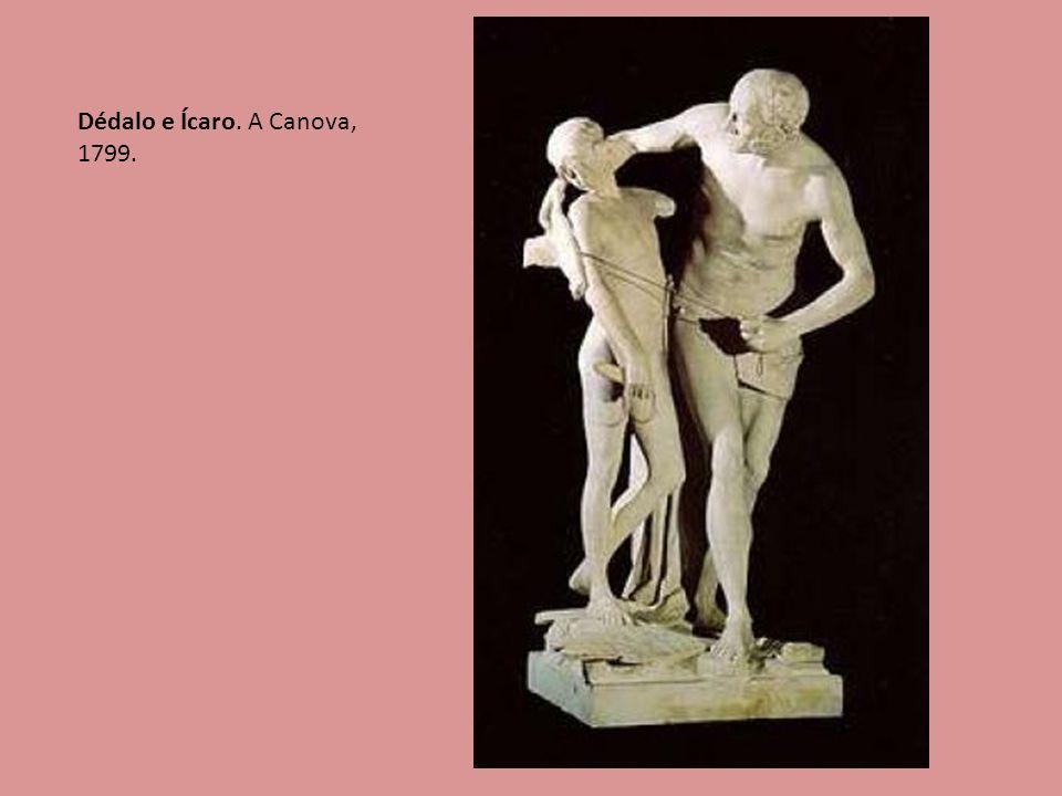 25 Dédalo e Ícaro. A Canova, 1799.