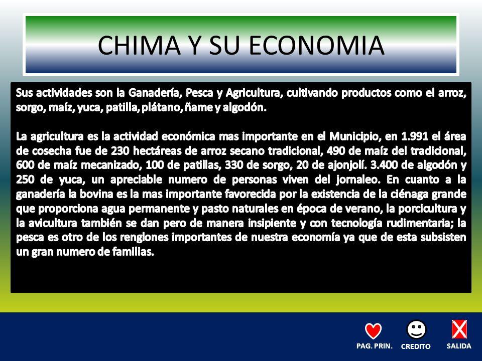 CHIMA Y SU ECONOMIA SALIDA CREDITO PAG. PRIN.