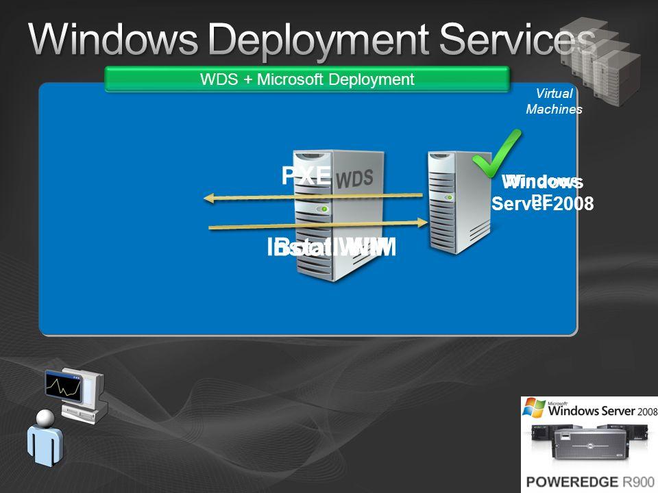 Virtual Machines WDS + Microsoft Deployment Windows PE PXE Boot.WIMInstall.WIM Windows Server 2008