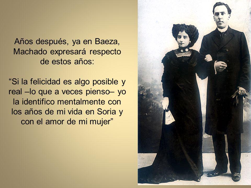 A las 10 de la mañana del 30 de julio de 1909, con 15 años de edad, se casó con Machado, que tenía 34 años, en la Iglesia de Santa María La Mayor, en Soria.