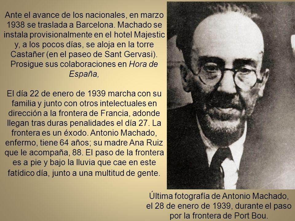 Al estallar la guerra civil tras el golpe de Estado del 18 de julio, Machado se adhiere a la República.