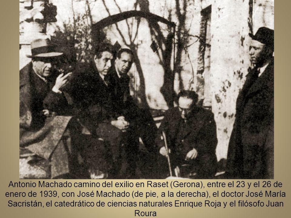 Última fotografía de Antonio Machado, el 28 de enero de 1939, durante el paso por la frontera de Port Bou.