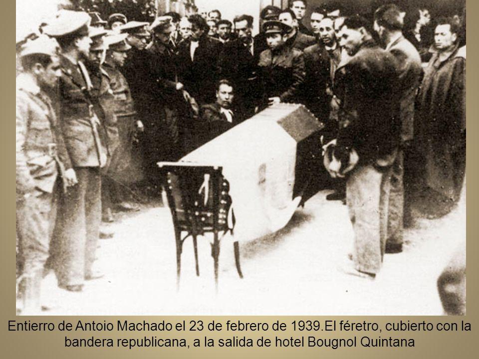 29 de enero, Machado, su madre y su hermano José llegan a Collioure, instalándose en el hotel Bougnol-Quintana.