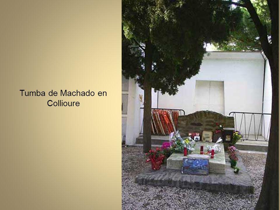 Entierro de Antonio Machado. Salida del cortejo fúnebre hacia el cementerio de Collioure