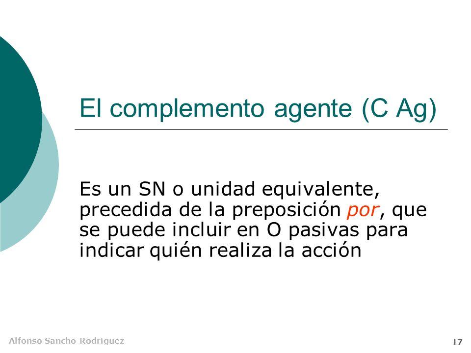 Alfonso Sancho Rodríguez 16 Restricciones No todos los verbos transitivos admiten conversión pasiva en todos los tiempos Chelo tiene un coche alucinan