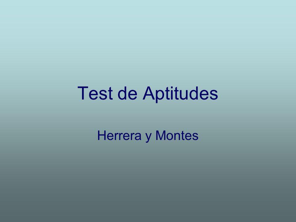 Test de Aptitudes Herrera y Montes