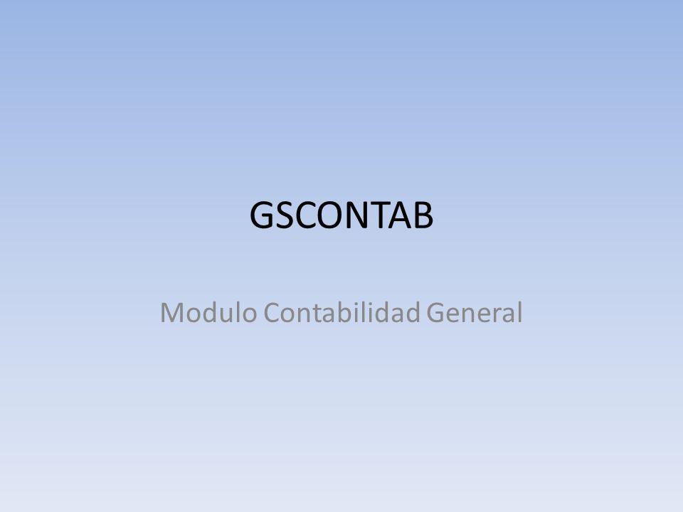 GSCONTAB Modulo Contabilidad General