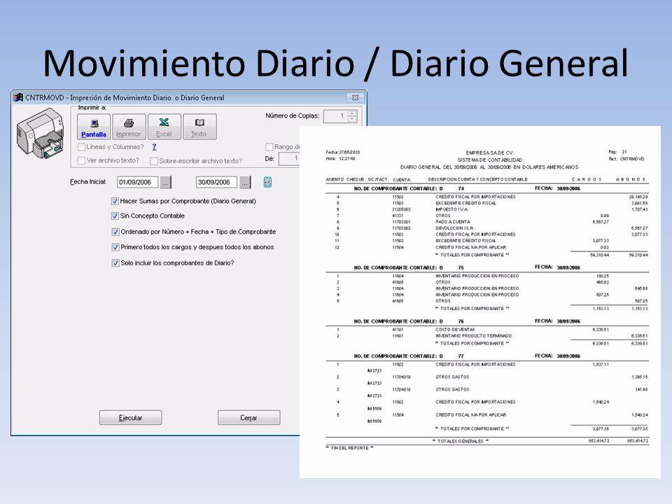 Movimiento Diario / Diario General