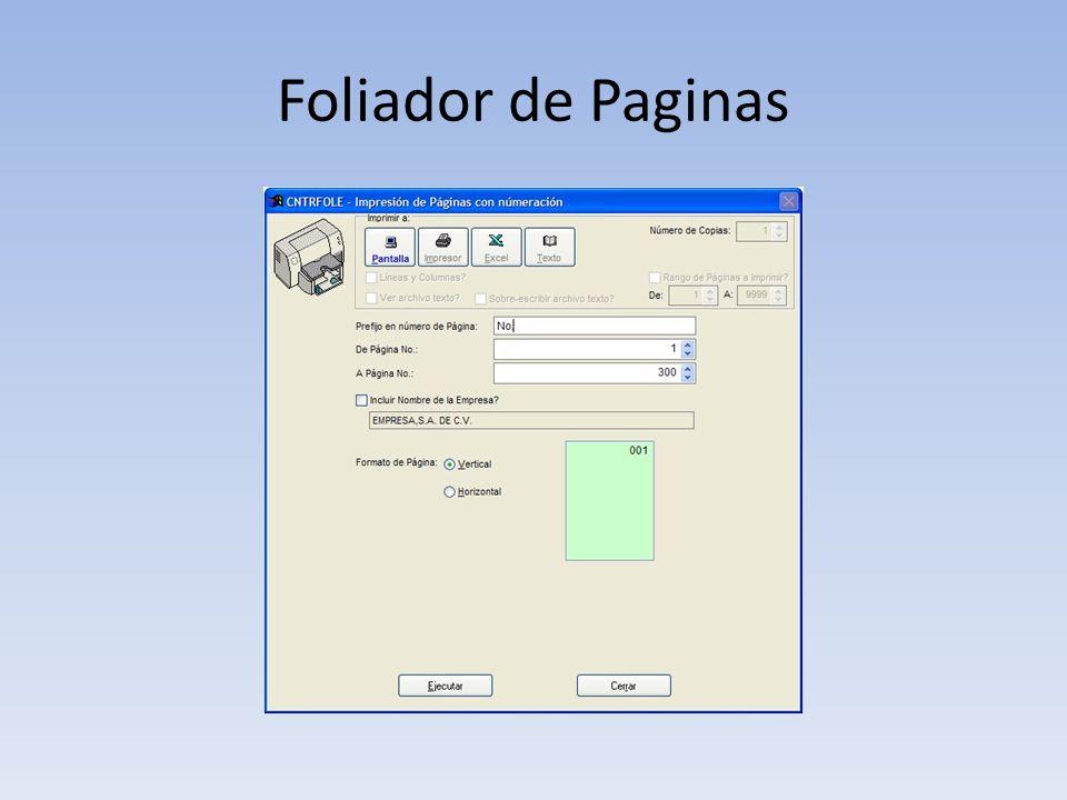 Foliador de Paginas
