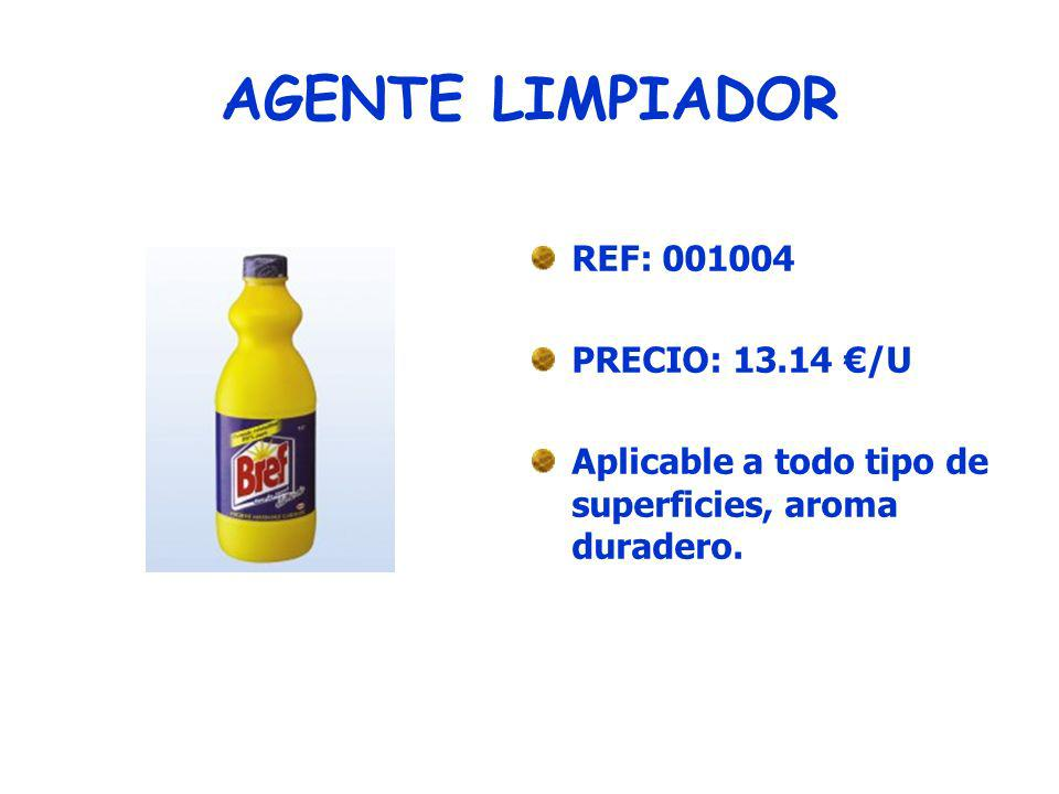 LIMPIADOR DESODORANTE REF:001005 PRECIO: 5.22/ U Limpia y deja un agradable olor a pino fresco.