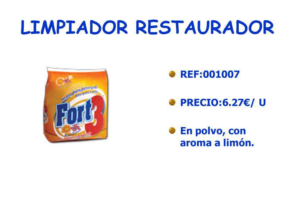 FLOOR CARE REF:001008 PRECIO:7.33 /U Para el mantenimiento y cuidado de todo tipo de suelos.