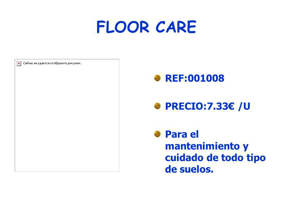 REMOVEDOR DE CERA REF:001009 PRECIO:4.16/ U Para pulir suelos.