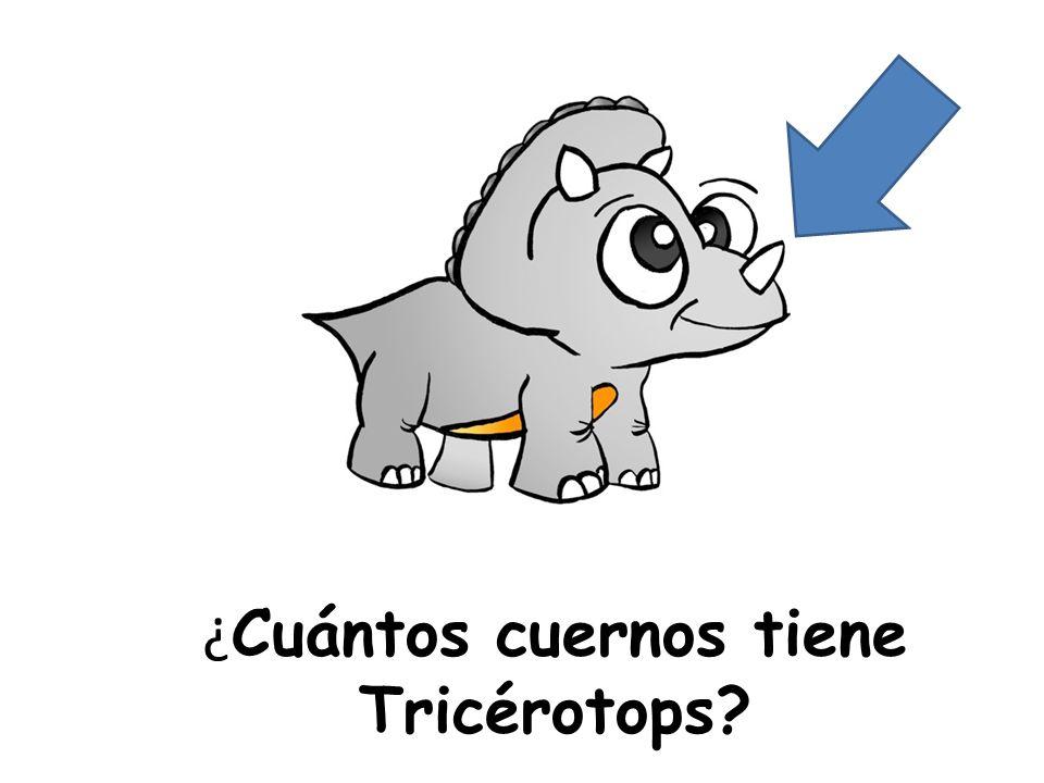 ¿ Cuántos cuernos tiene Tricérotops?