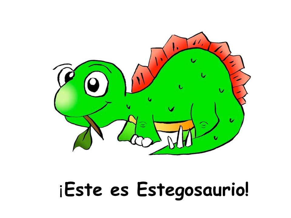¿ De qué color es Estegosaurio?