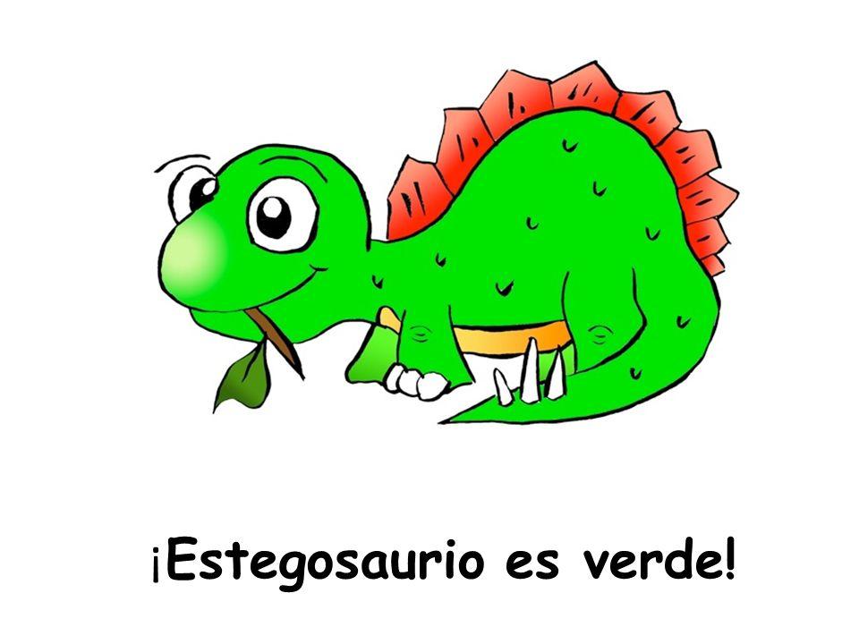 ¡ Estegosaurio es verde!