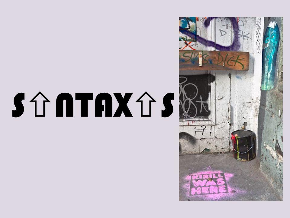 S NTAX S