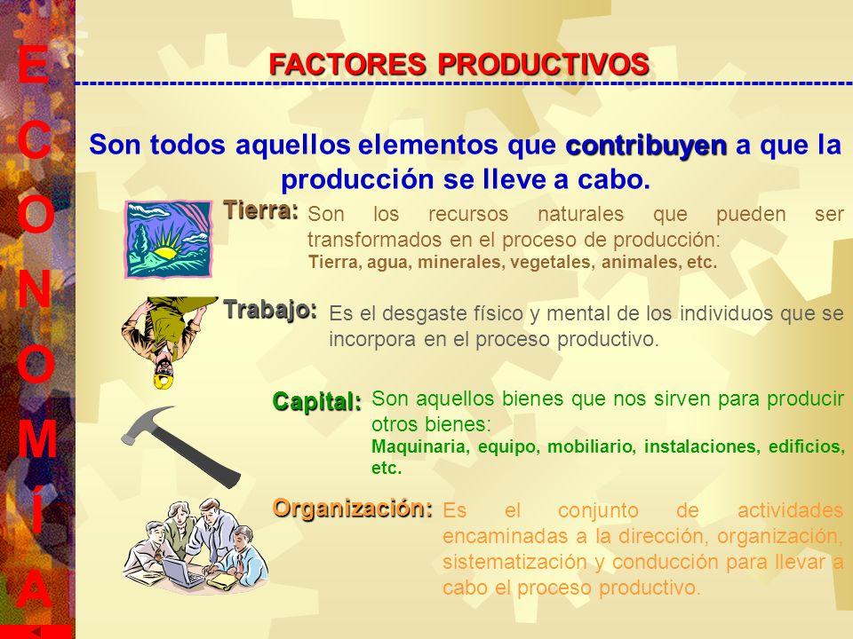 Son todos aquellos elementos que c cc contribuyen a que la producción se lleve a cabo.