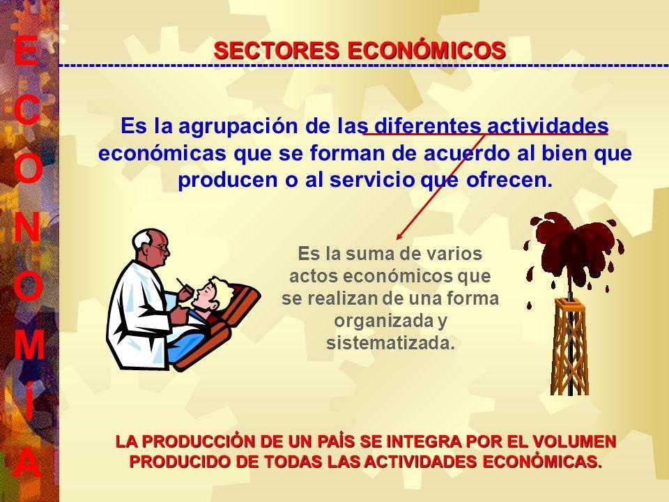 Es la suma de varios actos económicos que se realizan de una forma organizada y sistematizada.