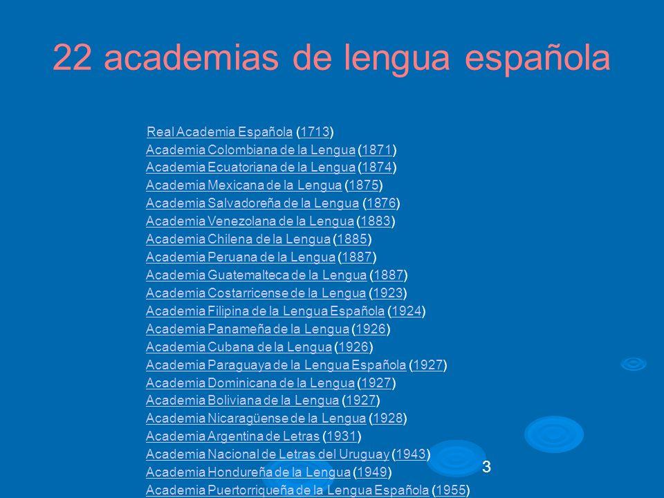 4 RAE Nombre oficial: Real Academia Española Fecha de fundación: 1713 Lema:Limpia, fija y da esplendor Dirección electrónica:www.rae.es