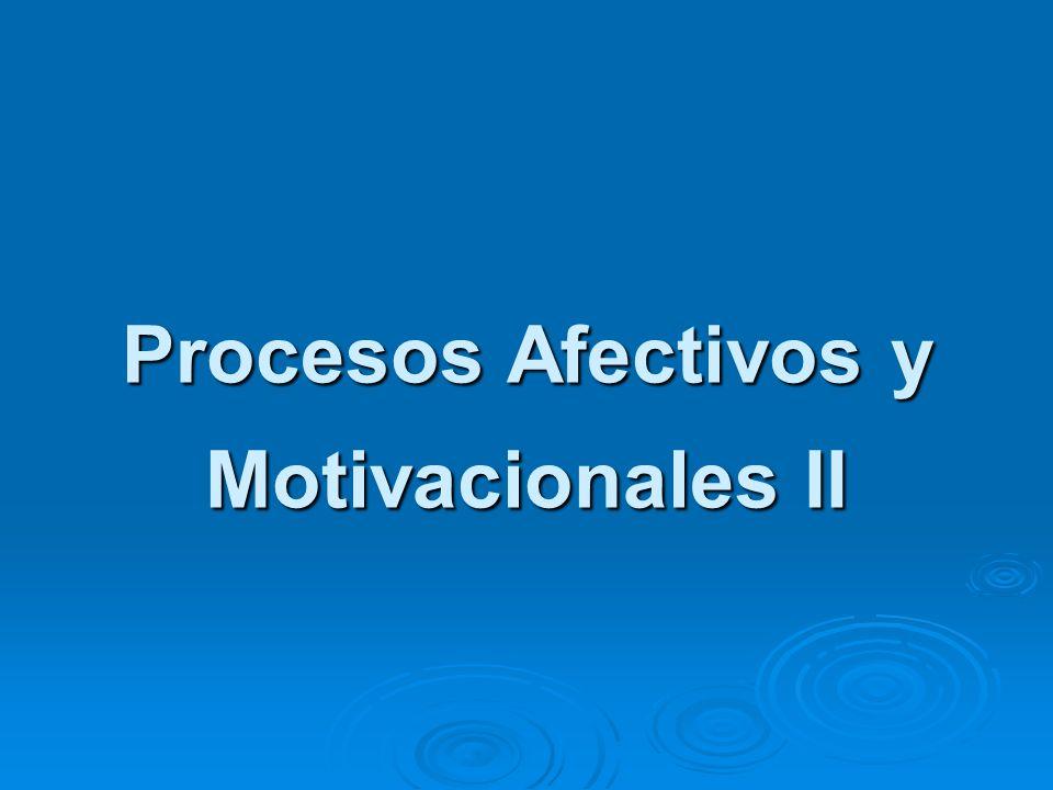 Procesos Afectivos y Motivacionales II