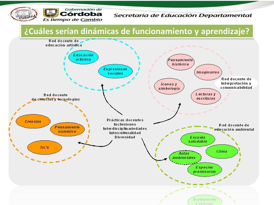 ¿Cuáles serían dinámicas de funcionamiento y aprendizaje