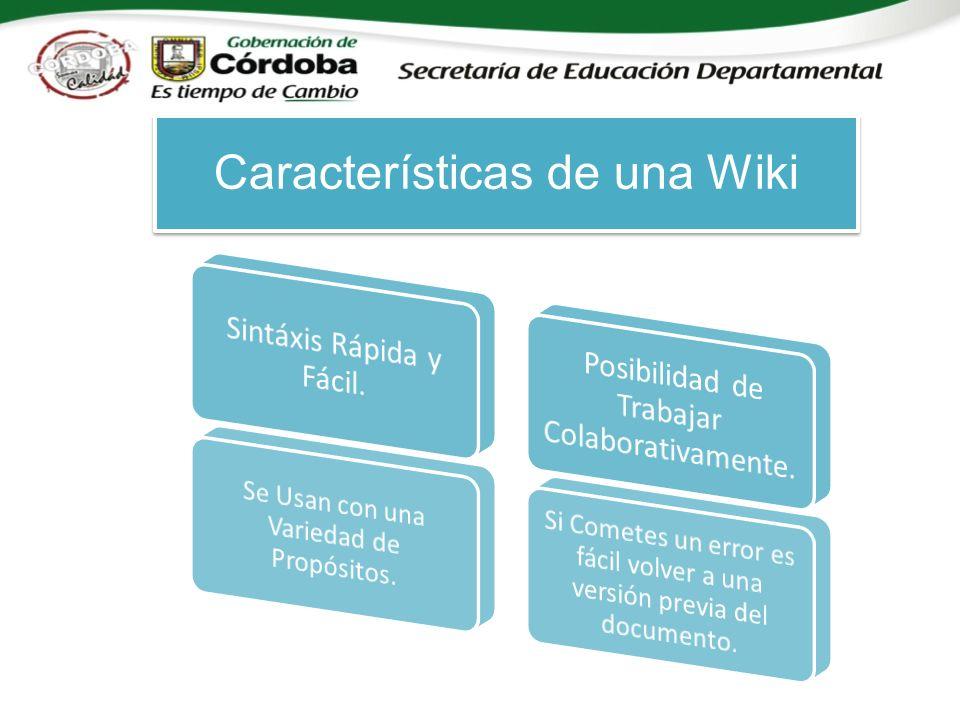Características de una Wiki