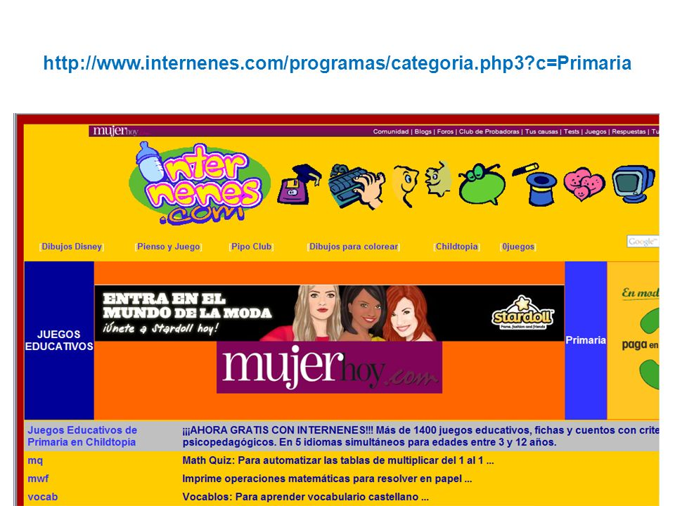http://www.internenes.com/programas/categoria.php3?c=Primaria
