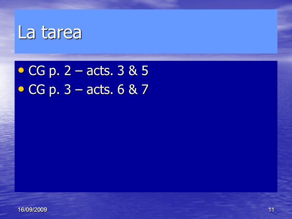 16/09/200911 La tarea CG p. 2 – acts. 3 & 5 CG p.