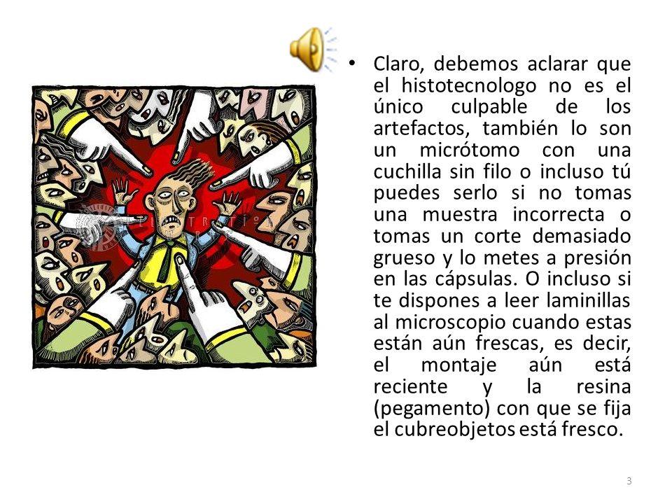 PRECIPITADO DE COLORANTE ARTEFACTO DE SEPARACIÓN 4