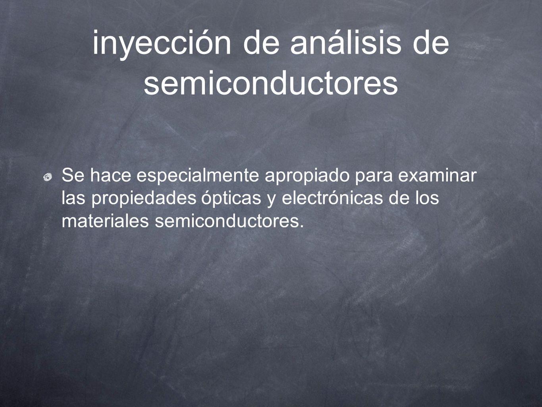 inyección de análisis de semiconductores Se hace especialmente apropiado para examinar las propiedades ópticas y electrónicas de los materiales semico