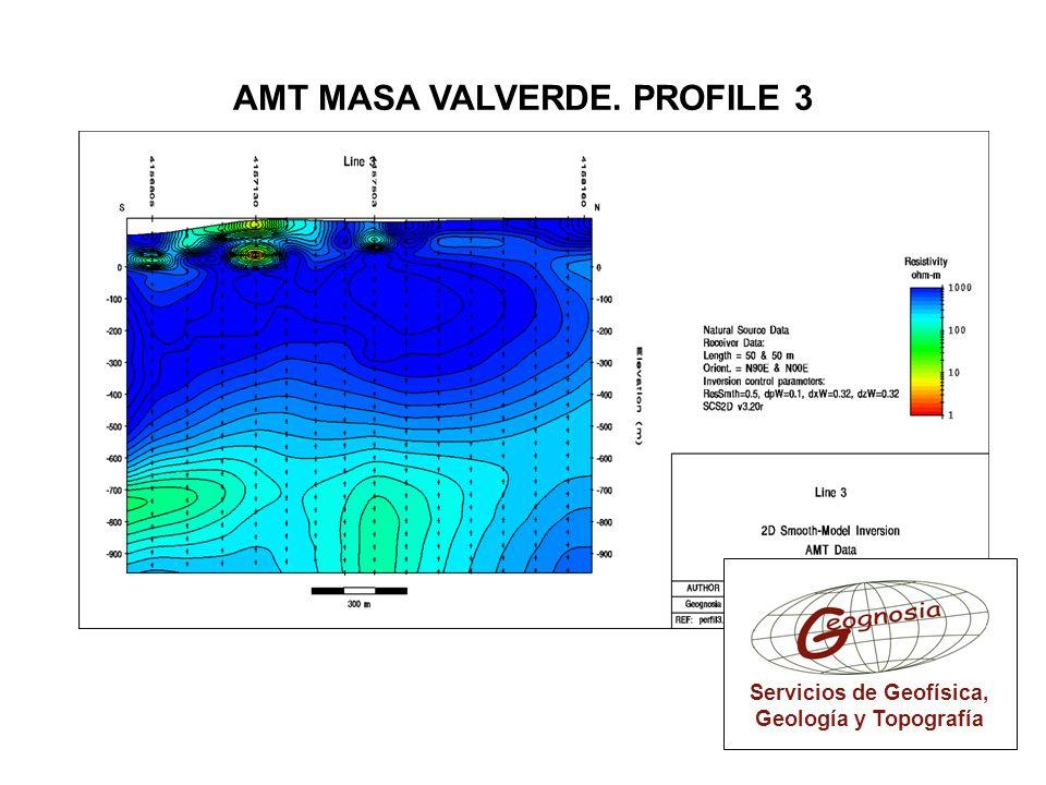 Servicios de Geofísica, Geología y Topografía AMT MASA VALVERDE. PROFILE 3