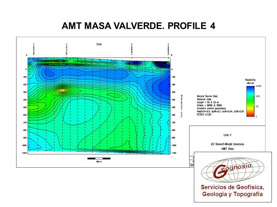 Servicios de Geofísica, Geología y Topografía AMT MASA VALVERDE. PROFILE 4