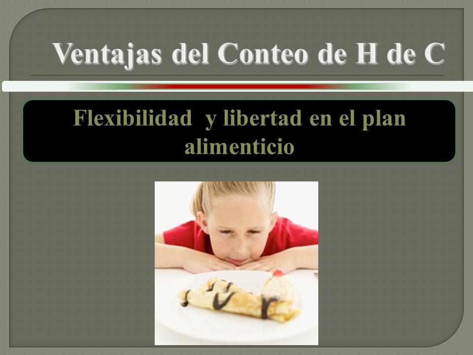 Flexibilidad y libertad en el plan alimenticio