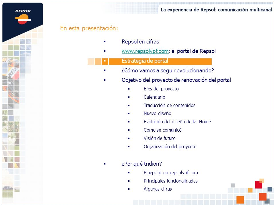 Objetivo del proyecto : Traducción de contenidos