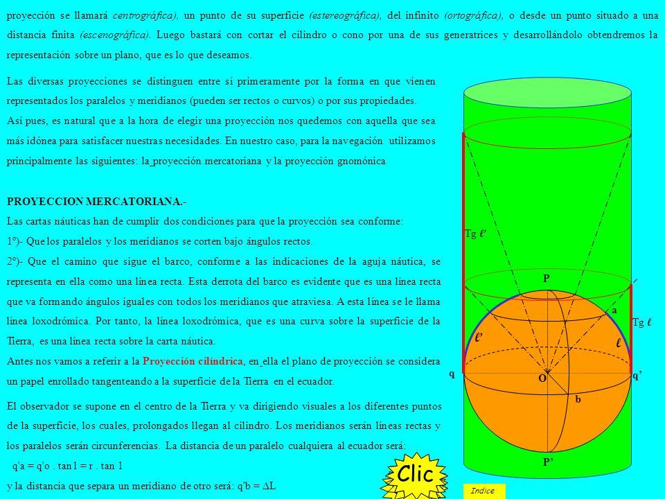 Las diversas proyecciones se distinguen entre sí primeramente por la forma en que vienen representados los paralelos y meridianos (pueden ser rectos o