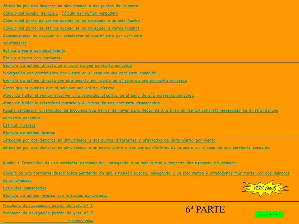 PROBLEMA DE NAVEGACIÓN PATRÓN DE YATE nº 1 CLIC Indice
