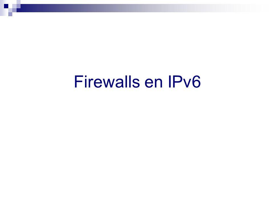 Firewalls en IPv6