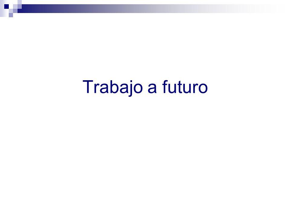 Trabajo a futuro