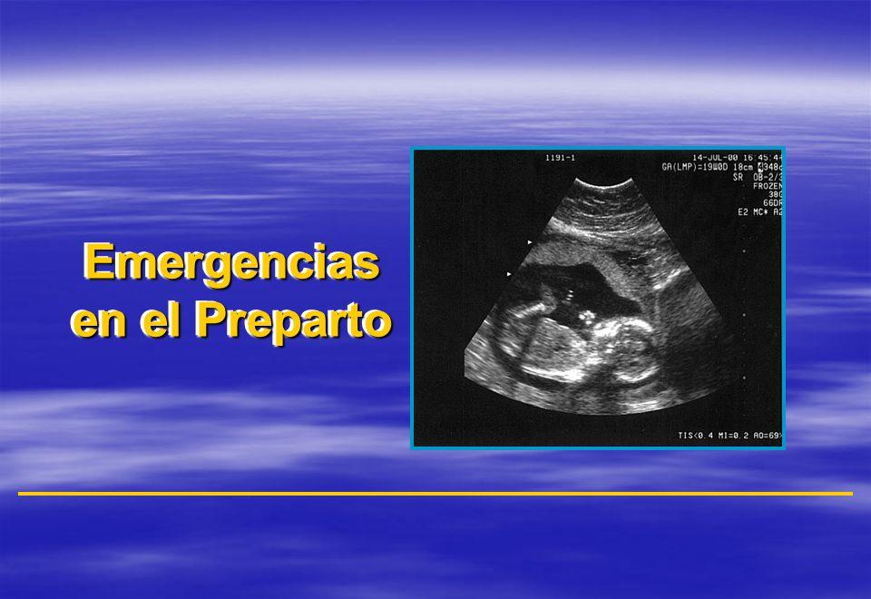 Emergencias en el Preparto