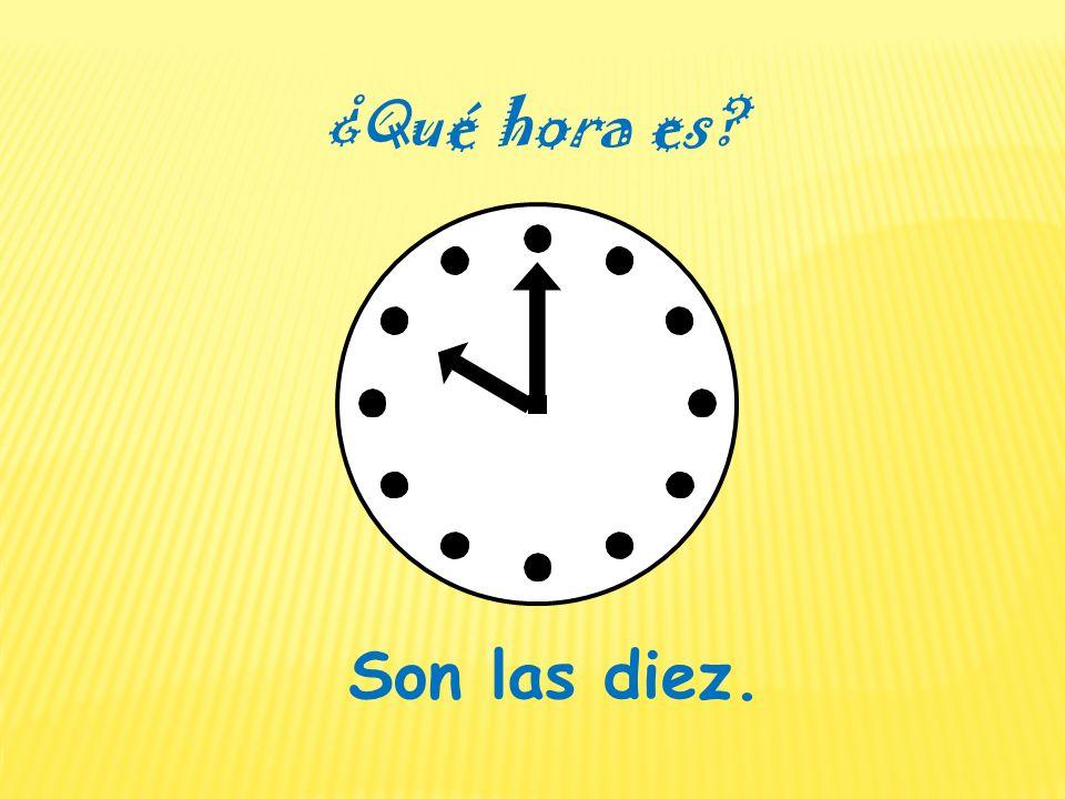 on the dot en punto= midnightmedianoche= midday / noon mediodía= p.m. a.m. =de la tarde / de la noche de la mañana =