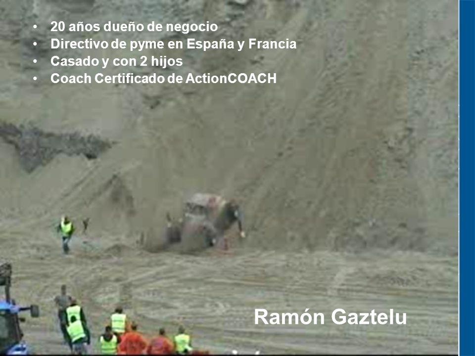 20 años dueño de negocio Directivo de pyme en España y Francia Casado y con 2 hijos Coach Certificado de ActionCOACH Ramón Gaztelu