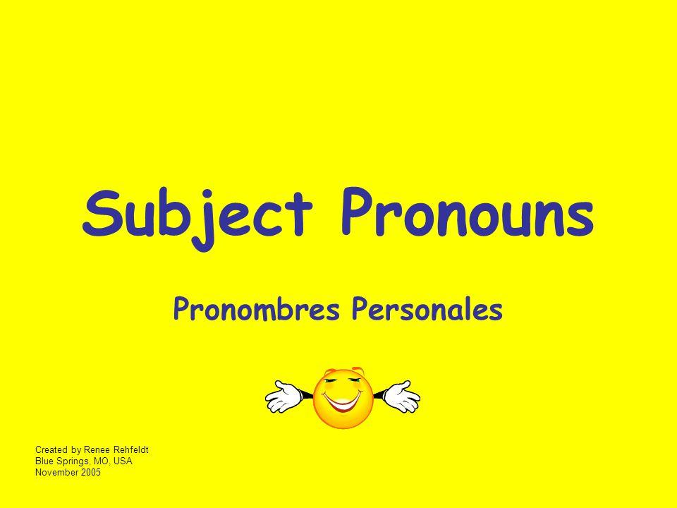 First Person Primera Voz Yo Tú y yo (nosotros)