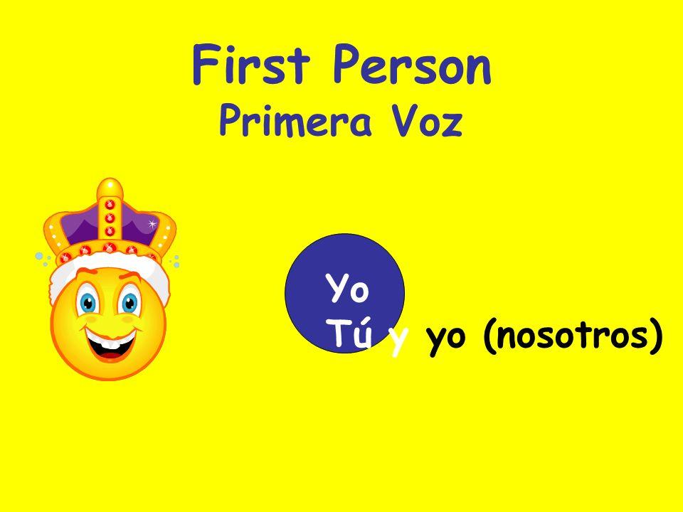 Second Person Segunda Voz Yo Nosotros Tú Vosotros Created by Renee Rehfeldt Blue Springs, MO, USA November 2005