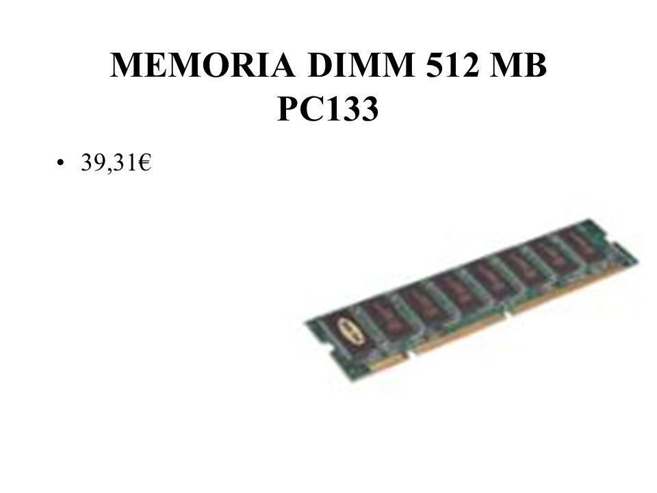 MEMORIA DIMM 512 MB PC133 39,31