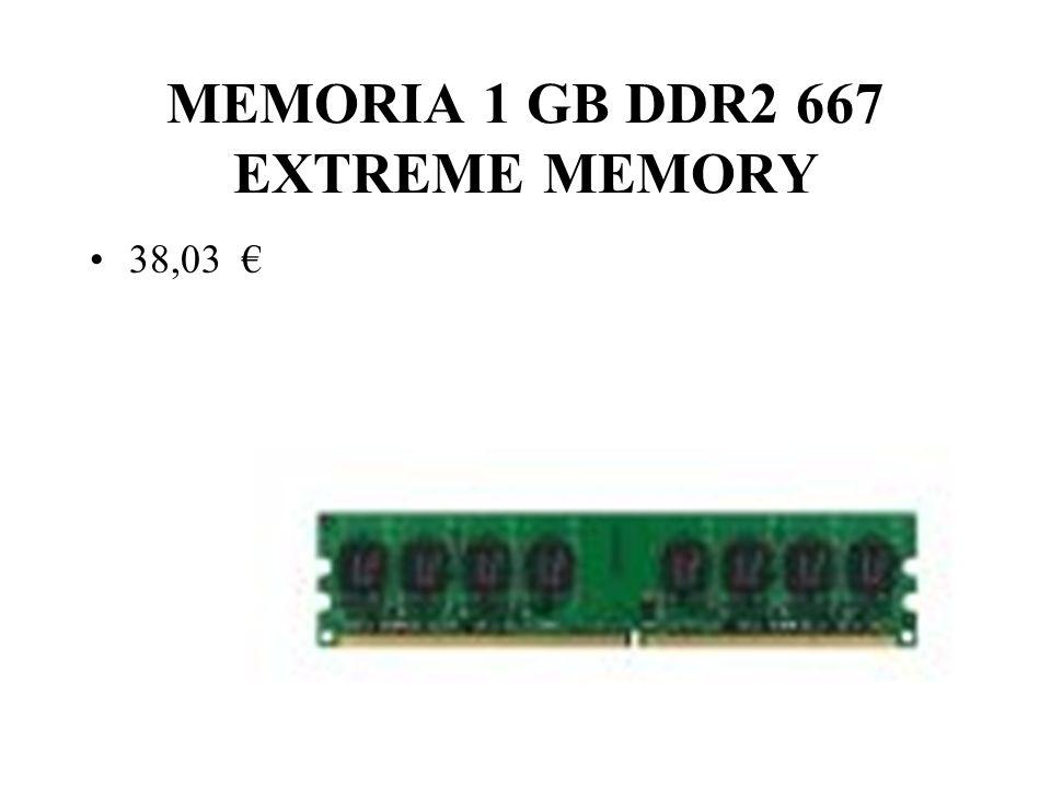 MEMORIA 1 GB DDR2 667 EXTREME MEMORY 38,03