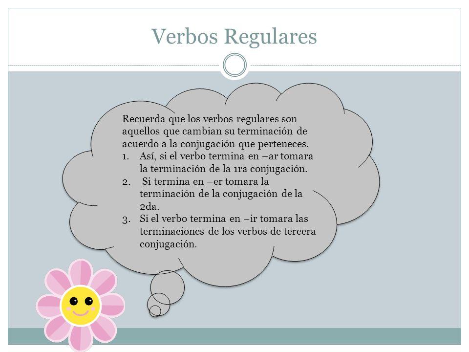 Pasos para conjugar los verbos 1.
