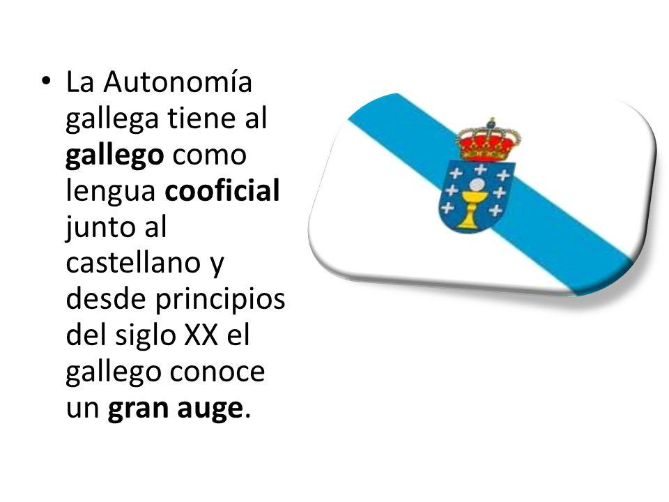 La Autonomía gallega tiene al gallego como lengua cooficial junto al castellano y desde principios del siglo XX el gallego conoce un gran auge.