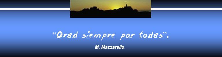 Orad siempre por todas. M. Mazzarello