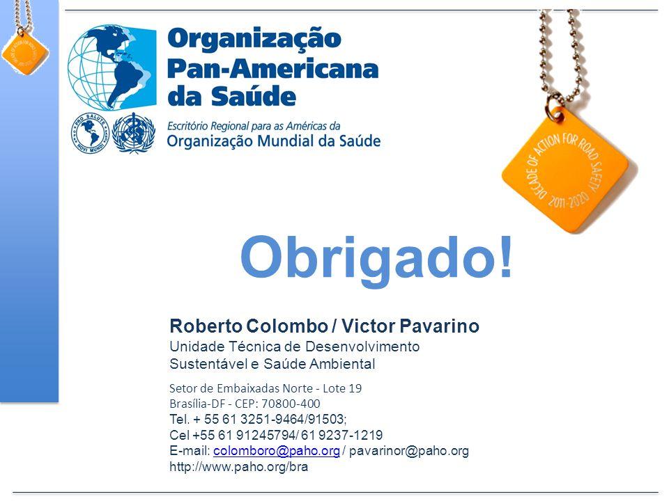 Roberto Colombo / Victor Pavarino Unidade Técnica de Desenvolvimento Sustentável e Saúde Ambiental Setor de Embaixadas Norte - Lote 19 Brasília-DF - CEP: 70800-400 Tel.